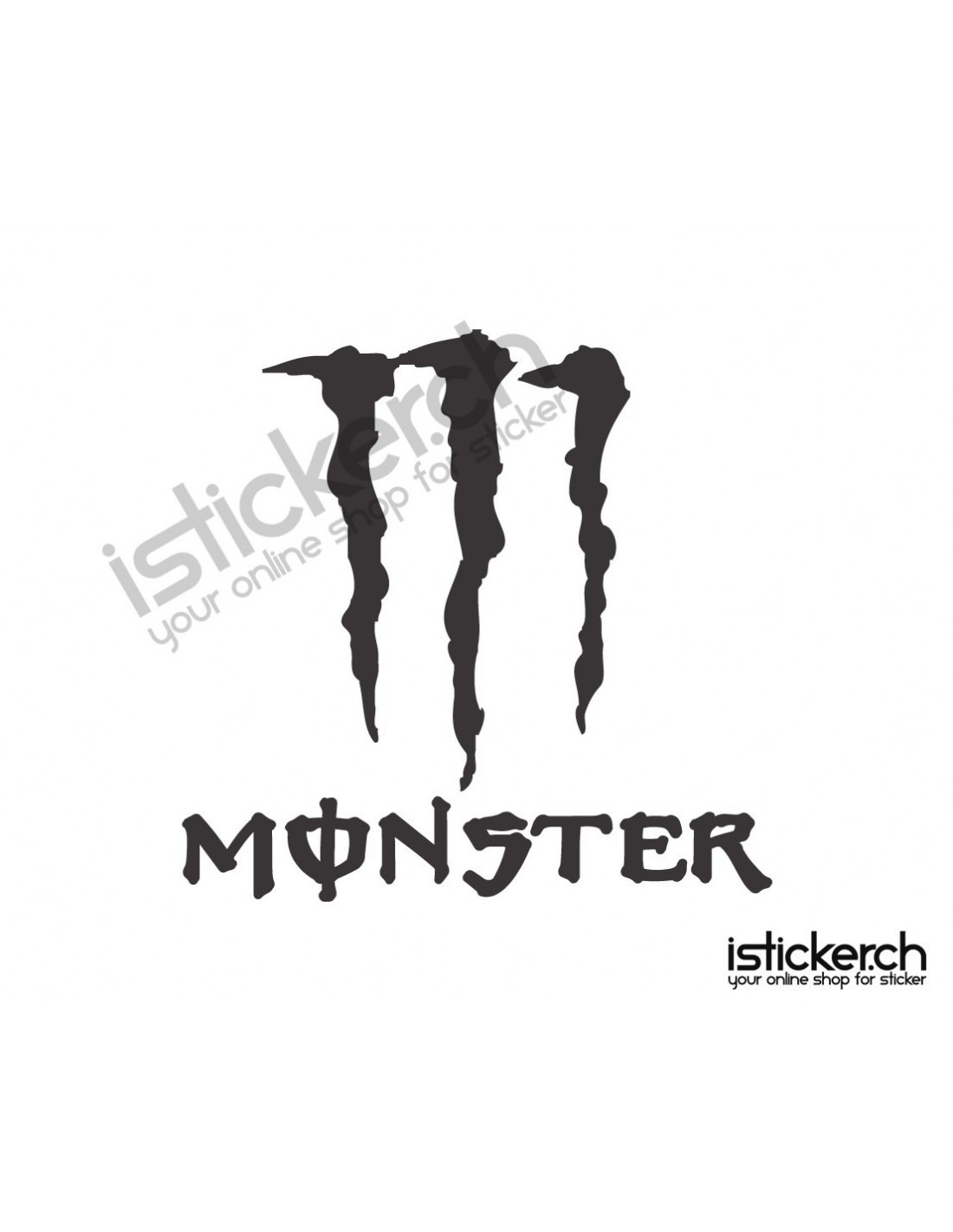 monster energy logo  istickerch