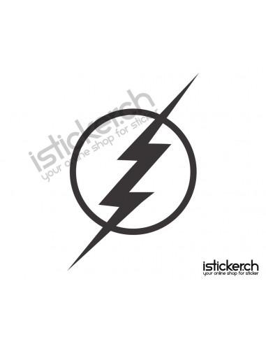 Superhelden Logos Flash Logo