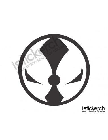 Superhelden Logos Spawn Logo