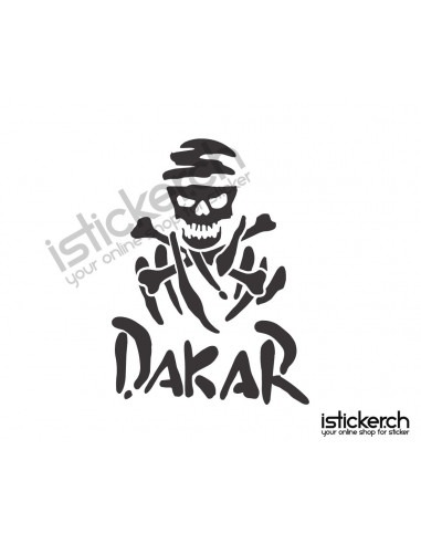 Dakar Skull Logo