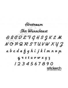Airstream Schriftart