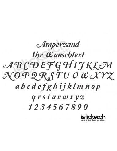 Amperzand Schriftart
