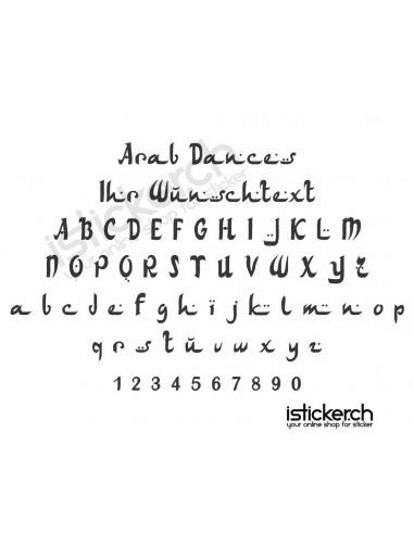Arab Dancers Schriftart
