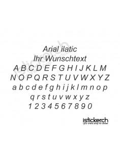 Arial italic Schriftart