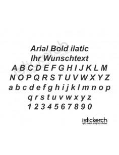 Arial Bold italic Schriftart