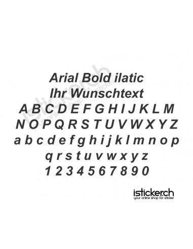 Schriftensammlung Arial Bold italic Schriftart