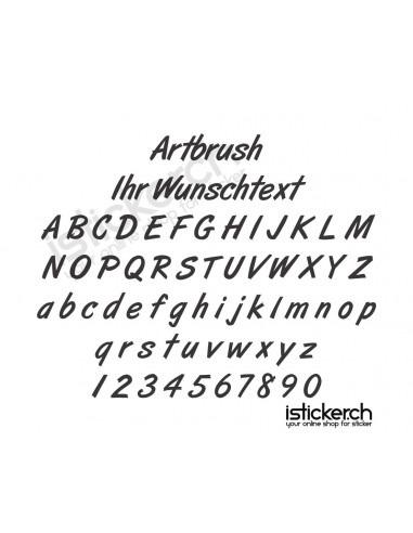 Artbrush Schriftart