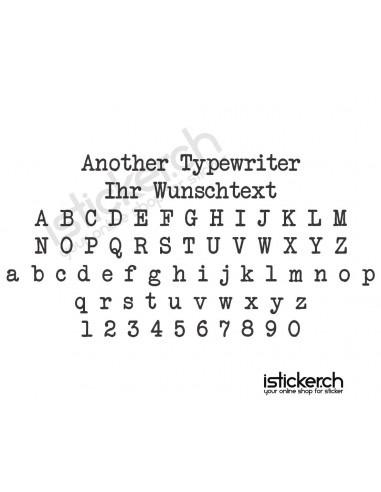 Another Typewriter Schriftart