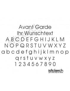 Avant Garde Schriftart