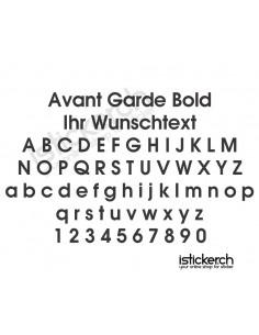 Avant Garde Bold Schriftart