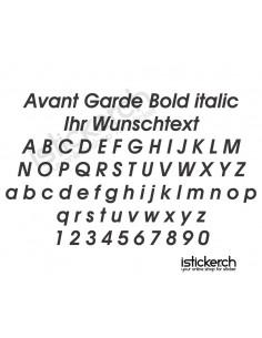 Avant Garde Bold italic...