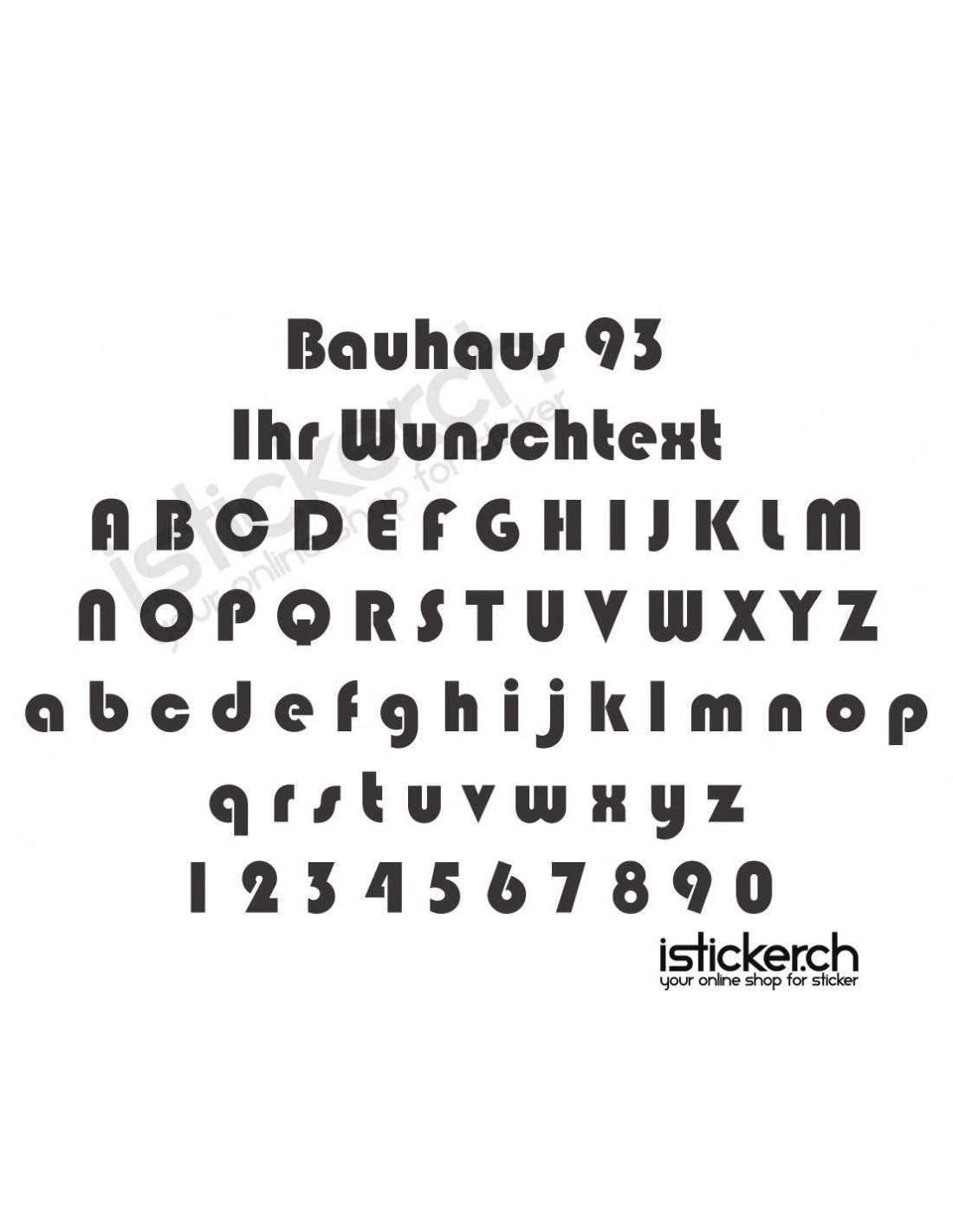 Schriftart Bauhaus 93
