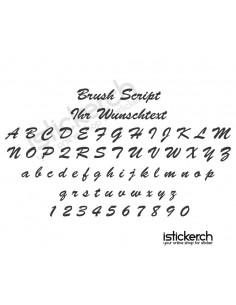 Brush Script Schriftart