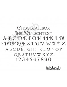 Chocolatebox Schriftart