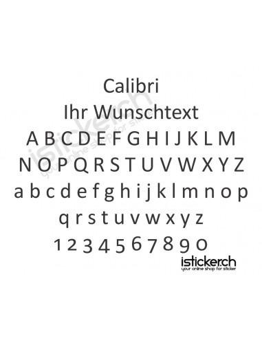 Calibri Schriftart