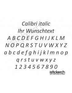 Calibri italic Schriftart