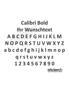 Calibri Bold Schriftart
