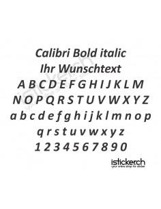 Calibri Bold italic Schriftart