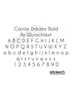 Caviar Dreams Bold Schriftart