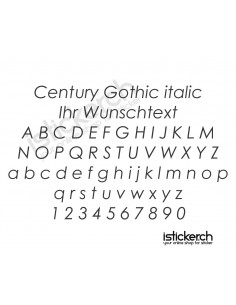 Century Gothic italic...