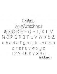 Chapul Schriftart