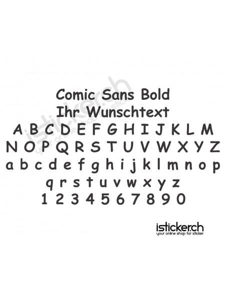 Comic Sans Bold Schriftart