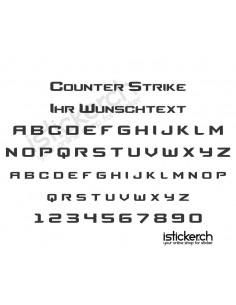 Counter Strike Schriftart