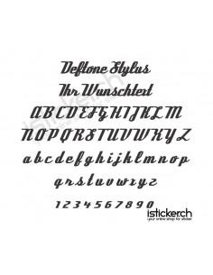 Deftone Stylus Schriftart