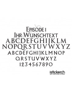 Episode 1 Schriftart