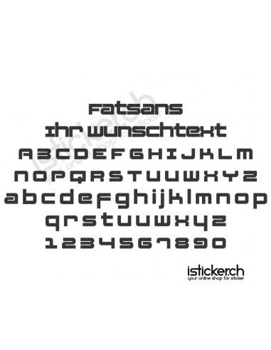 Schriftensammlung Fatsans Schriftart
