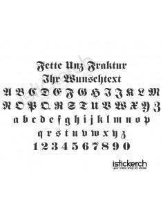 Fette Unz Fraktur Schriftart