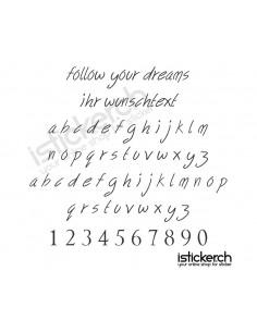 Follow Your Dreams Schriftart