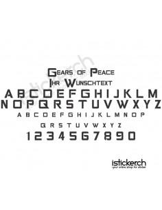 Gears of Peace Schriftart