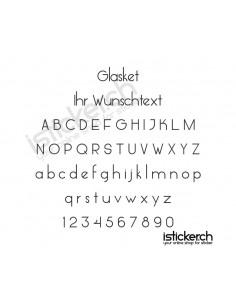 Glasket Schriftart