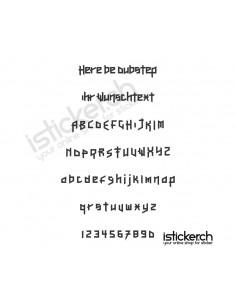Here Be Dubstep Schriftart