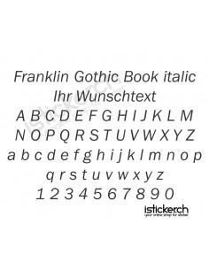 Franklin Gothic Book italic...