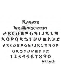 Karate Schriftart