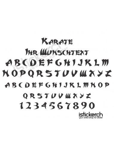Schriftensammlung Karate Schriftart