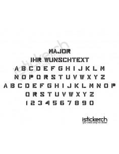 Major Schriftart