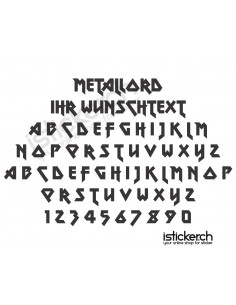 Metallord Schriftart