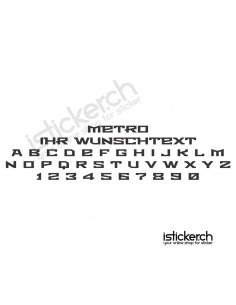 Metro Schriftart