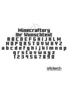 Minecraftory Schriftart