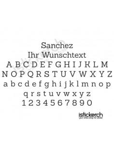 Sanchez Schriftart