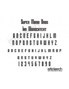 Super Mario Bros Schriftart