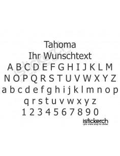 Tahoma Schriftart