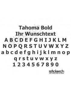 Tahoma Bold Schriftart