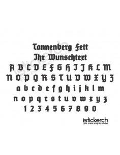 Tannenberg Fett Schriftart