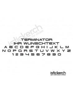 Terminator Schriftart