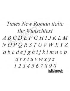 Times New Roman italic...
