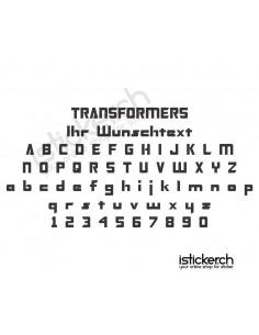 Transformers Schriftart